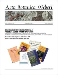 Acta Botanica Weberi No. 4 March 2021